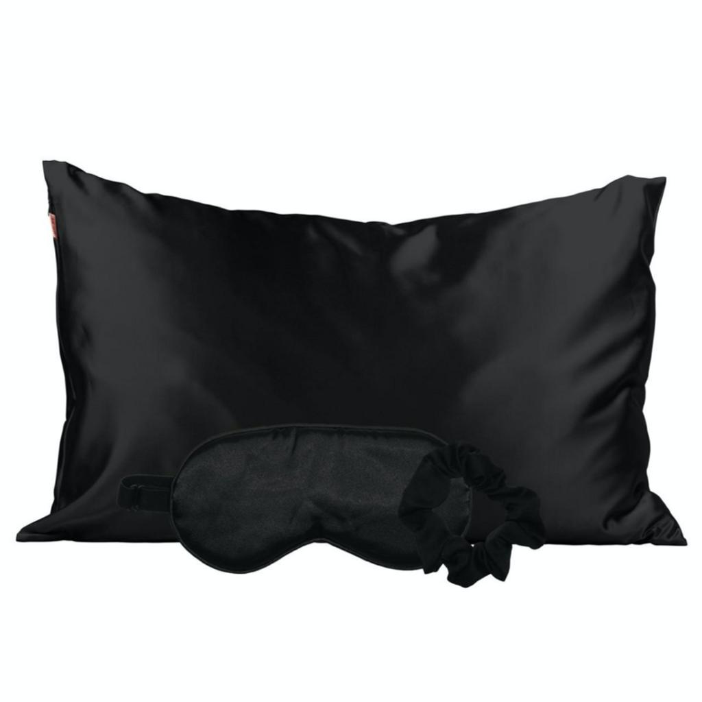 BLACK SATIN SLEEP SET