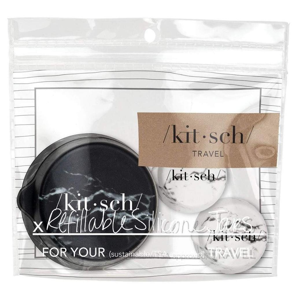BLK/WHT REFILLABLE SILICONE JARS