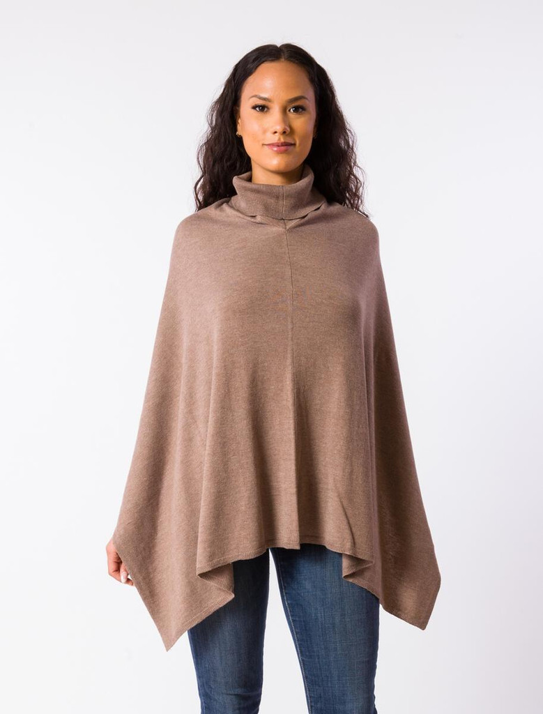 TAUPE EDEN PONCHO