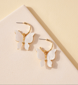 WHITE BUTTERFLY SHELL HOOPS