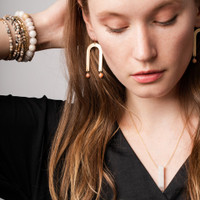 SUNSTONE ARCHES EARRING