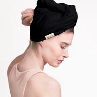 BLACK ECO FRIENDLY HAIR TOWEL