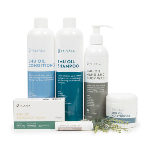 Shampoo, Conditioner, Body Wash, Moisturiser, Soap & Lip Balm