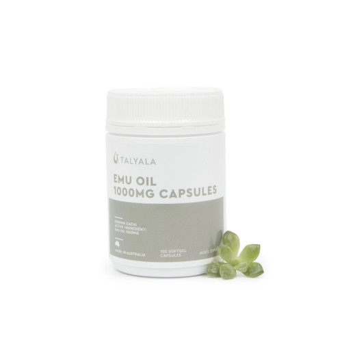 1 x Jar Emu Oil Capsules 1000mg