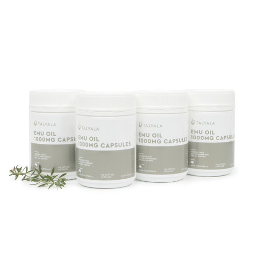 4 x Emu Oil Capsules 1000mg