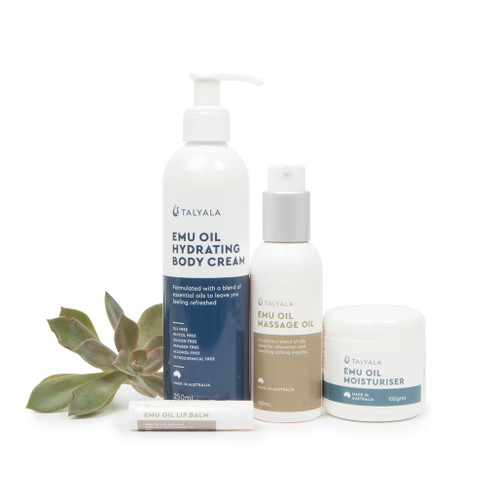 Moisturiser, Hydrating Body Cream, Massage Oil & Lip Balm