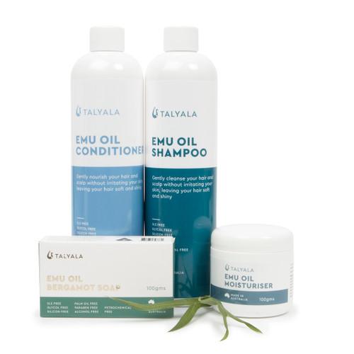 Emu Oil Shampoo, Emu Oil Conditioner, Moisturiser, Soap