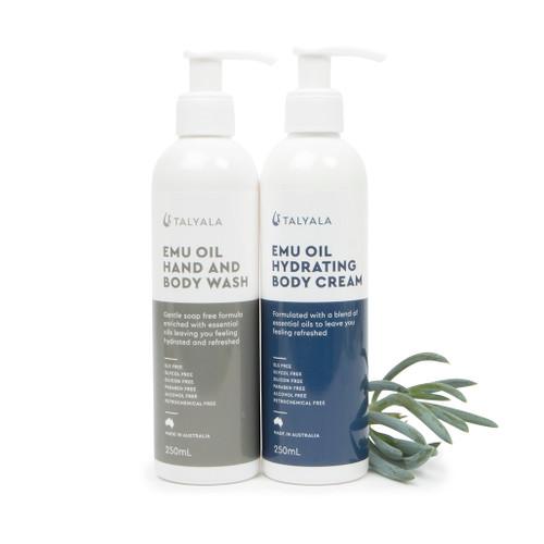 Emu Oil Body Wash & Emu Oil Hydrating Body Cream