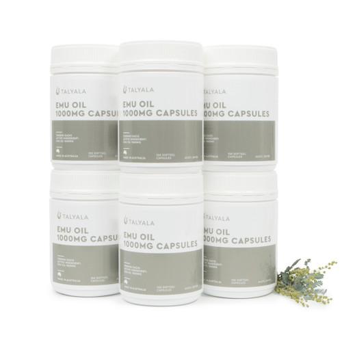 6 x Emu Oil Capsules 1000mg