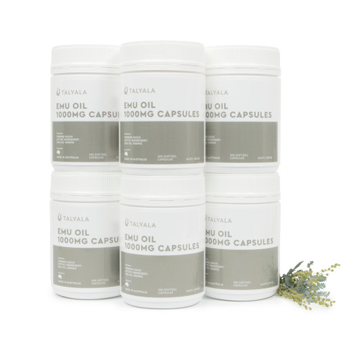 6 x Emu Oil Capsules 1000mg
