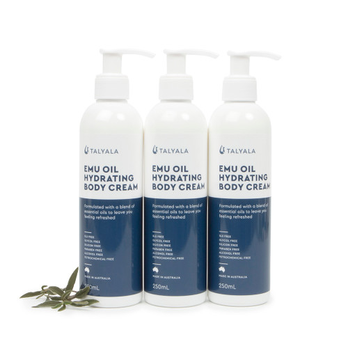 3 x Emu Oil Hydrating Body Cream 250ml