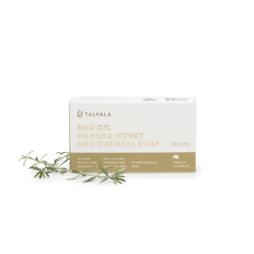 Manuka Honey & Oatmeal Emu Oil Soap 100g