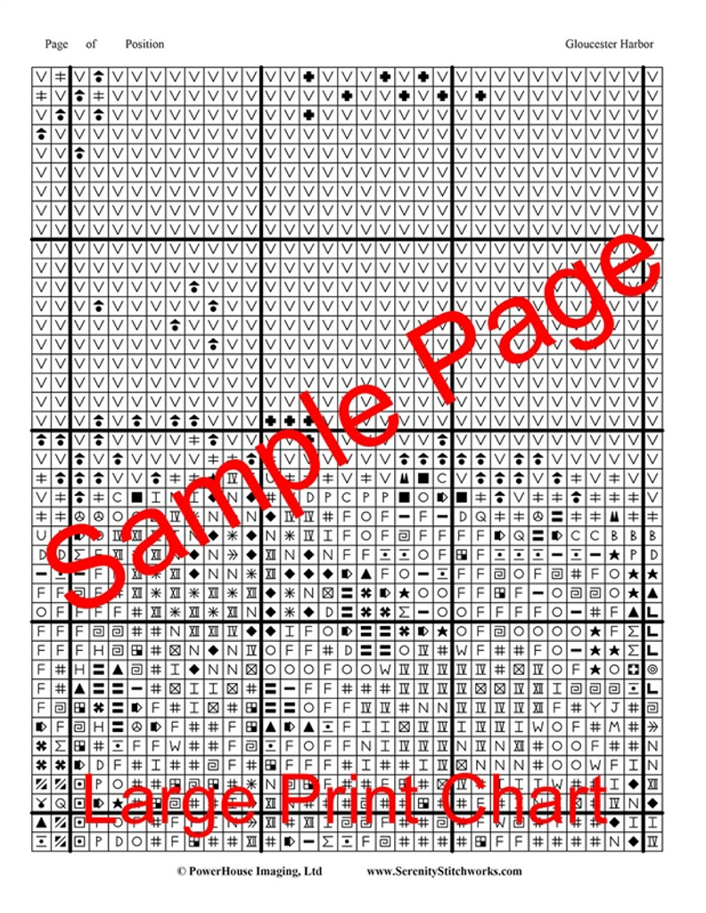 Gloucester Harbor Cross Stitch Pattern - Edward Hopper