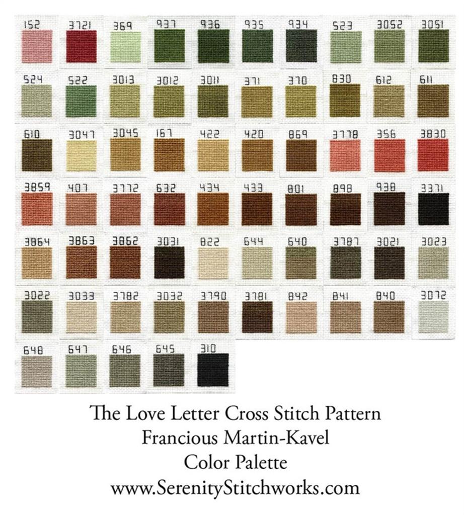 The Love Letter Cross Stitch Pattern - Francois Martin-Kavel