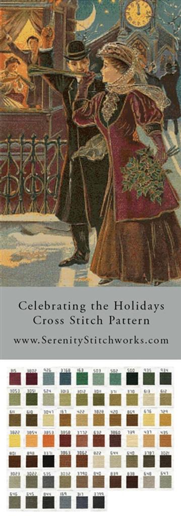 Celebrating the Holidays Cross Stitch Pattern