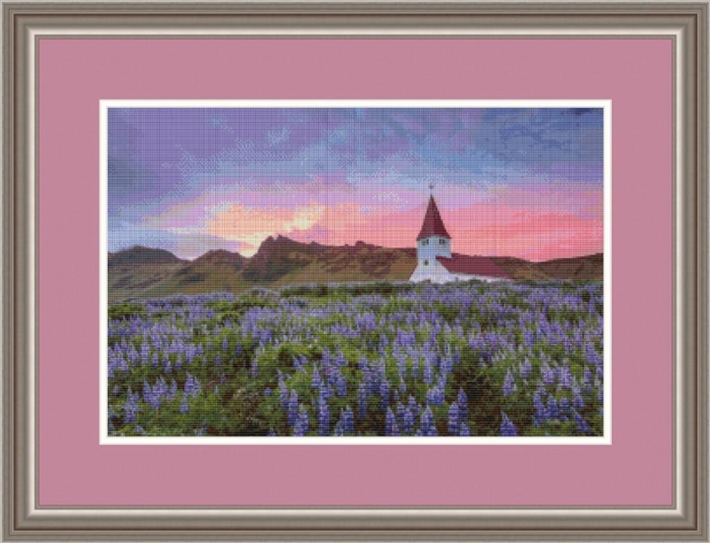 Vik i Myrdal Church Cross Stitch Chart - John Mejia
