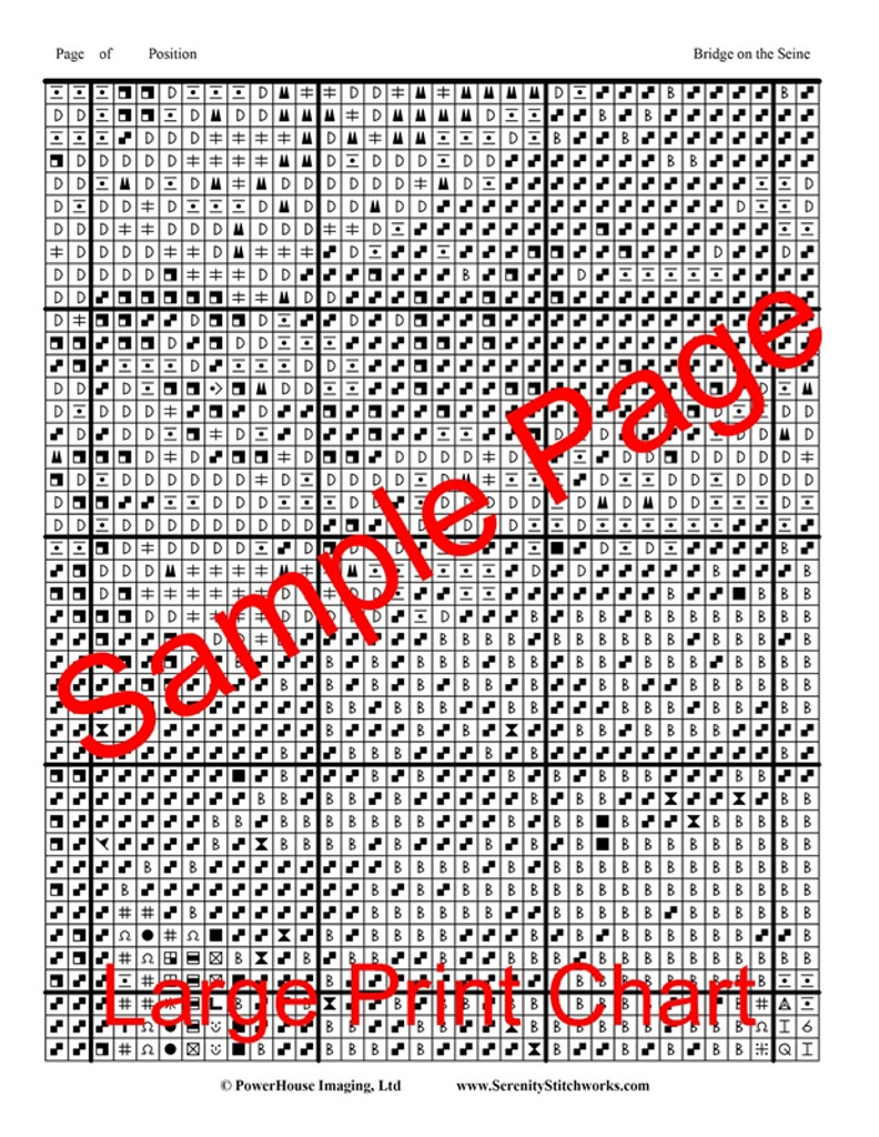Bridge on the Seine Cross Stitch Pattern - Edward Hopper