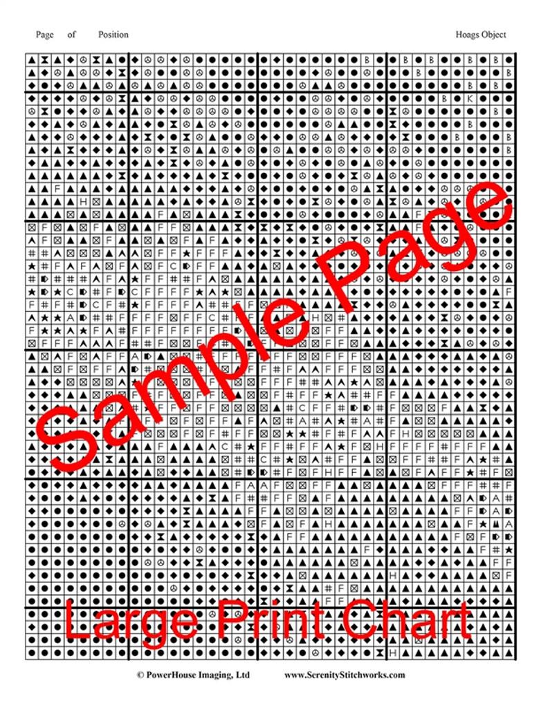 Hoag's Object Cross Stitch Pattern