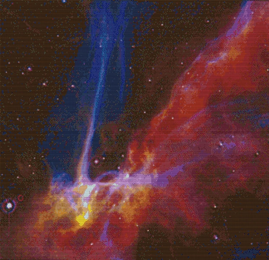 Cygnus Loop Supernova Remnant Cross Stitch Pattern