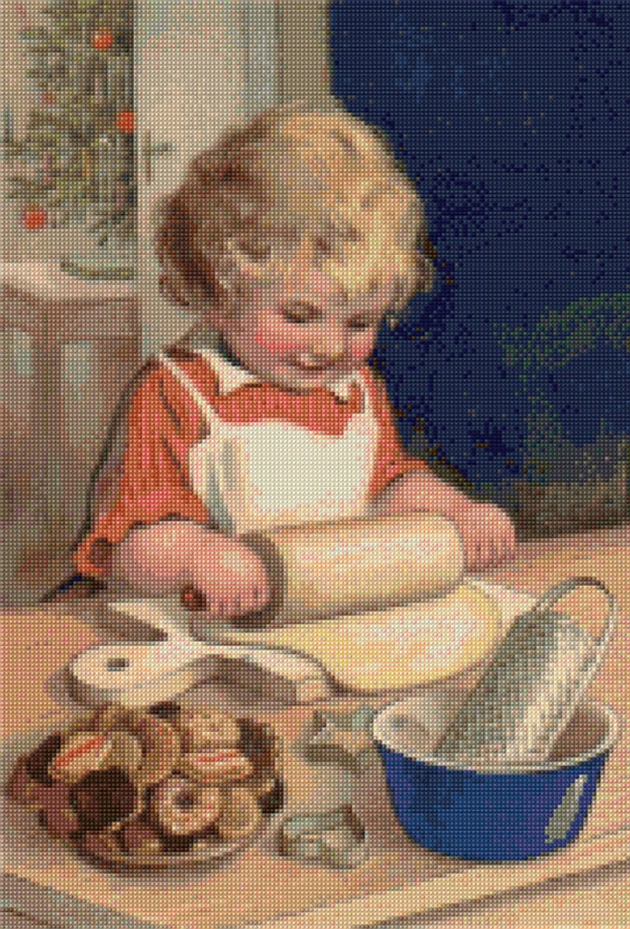Making Cookies Cross Stitch Pattern