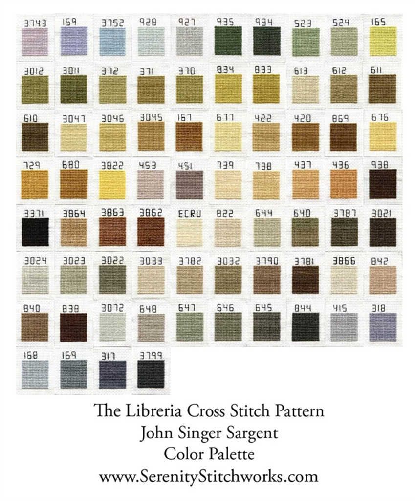 The Libreria Cross Stitch Pattern - John Singer Sargent