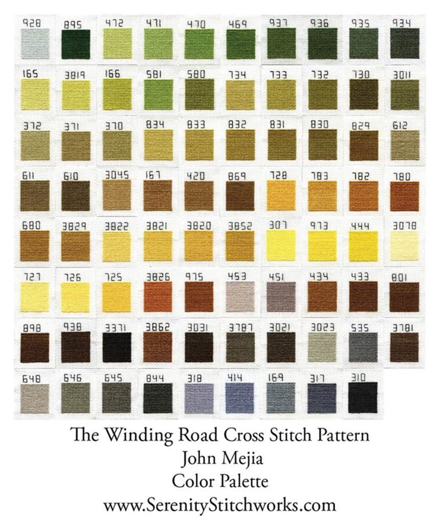 The Winding Road Cross Stitch Chart - John Mejia
