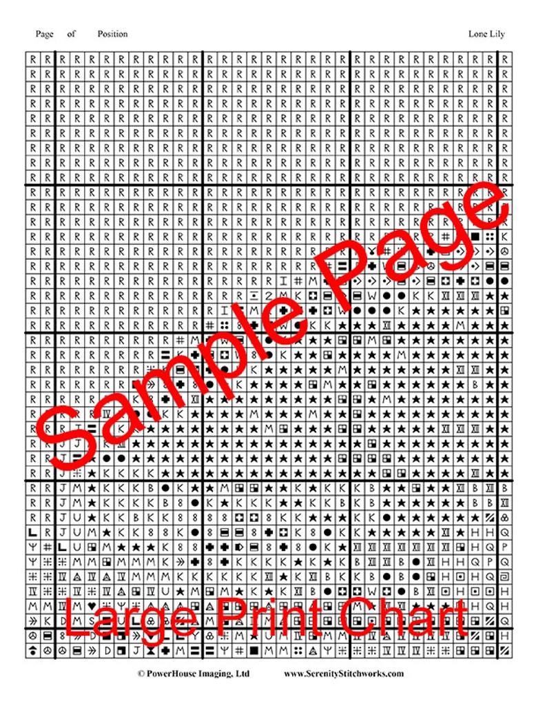 Lone Lily Cross Stitch Chart - John Mejia