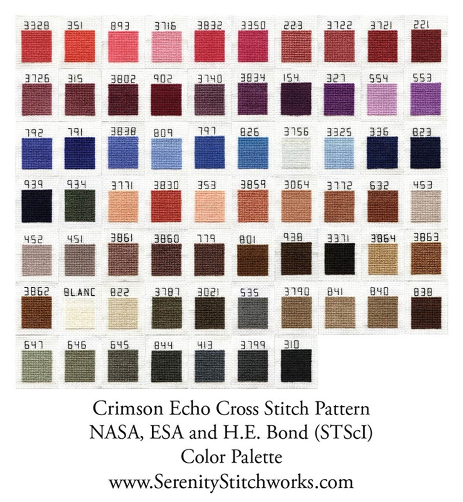 Crimson Echo Cross Stitch Pattern