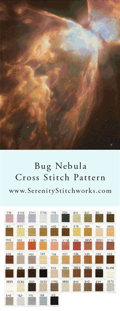 Bug Nebula Cross Stitch Pattern