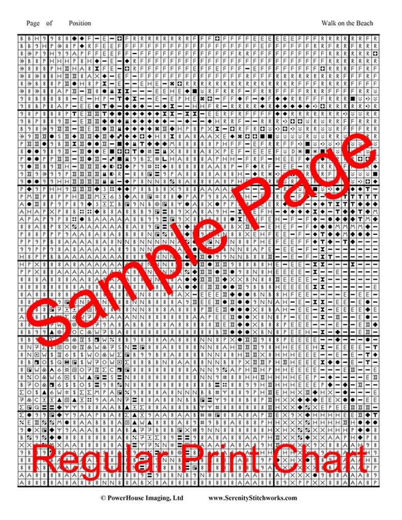 Walk on the Beach Cross Stitch Pattern - Joaquin Sorolla y Bastida