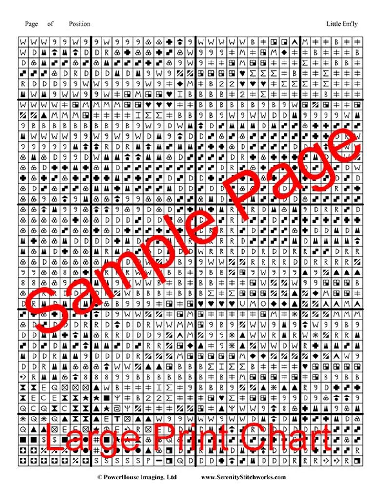 Little Em'ly Cross Stitch Chart - Jessie Willcox Smith