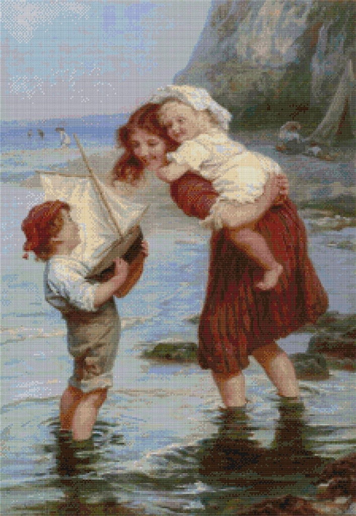 At Scarborough Cross Stitch Chart - Frederick Morgan