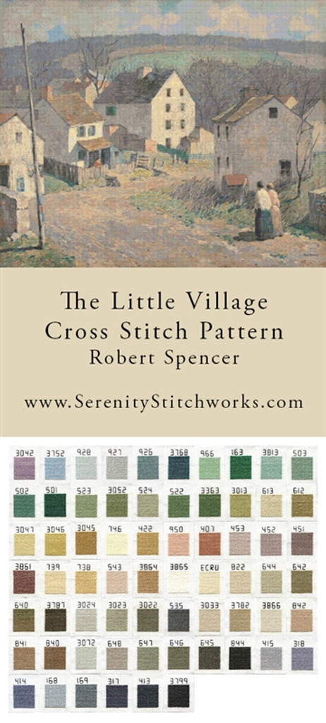 The Little Village Cross Stitch Pattern - Robert Spencer