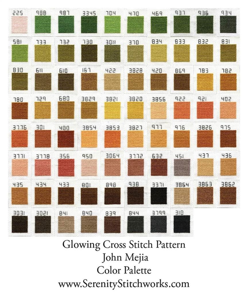 Glowing Cross Stitch Chart - John Mejia