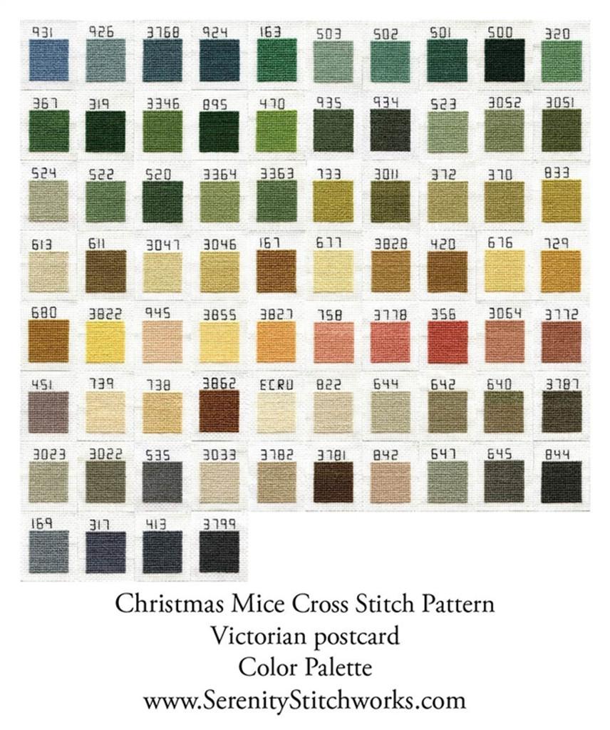 Christmas Mice Cross Stitch Pattern