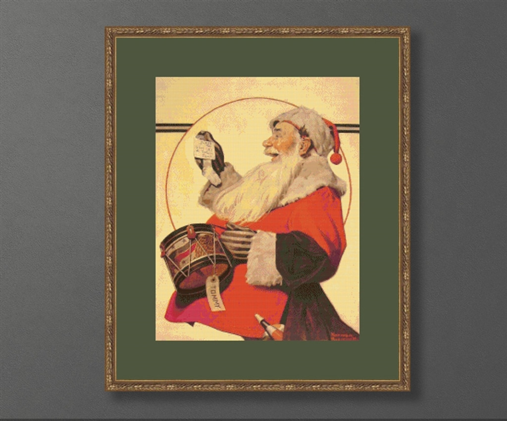 A Drum for Tommy Cross Stitch Pattern - Norman Rockwell