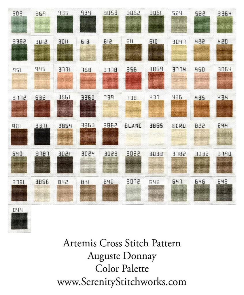Artemis Cross Stitch Pattern