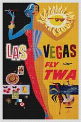 Las Vegas Fly TWA - Cross Stitch Chart