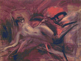 Reclining Nude Cross Stitch Pattern - Giovanni Boldini