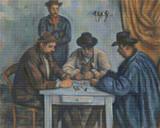 The Card Players Cross Stitch Chart - Paul Cezanne