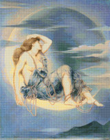 Luna Cross Stitch Chart - Evelyn de Morgan