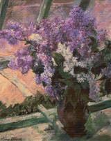 Lilacs in a Window Cross Stitch Pattern - Mary Cassatt