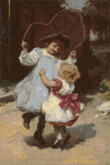 Skipping Cross Stitch Chart - Frederick Morgan