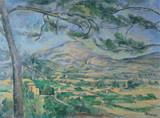 Mont St. Victoire Cross Stitch Pattern - Paul Cezanne