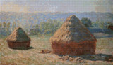 Haystacks at the End of the Summer, Morning Effect Cross Stitch Chart - Claude Monet