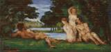 Bathers - 1870 Cross Stitch Chart - Paul Cezanne