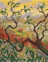 Japanese Style Landscape Cross Stitch Pattern - Paul Ranson