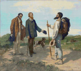 The Meeting Cross Stitch Chart - Gustave Courbet