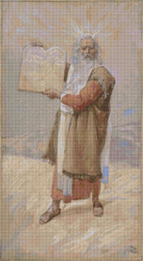 Moses and the Ten Commandments Cross Stitch Pattern - James Tissot