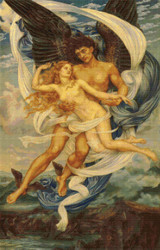 Boreas and Orietyia Cross Stitch Chart - Evelyn de Morgan